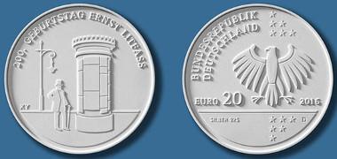 Deutschland / 20 Euro / Silber .925 / 18 g / 32,5 mm / Design: Susanne Jünger. © BADV.