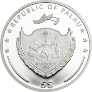 Palau / Ounce of Luck / 5 Dollars / Silver .925 / 1 Ounce / 38.61 mm / Mintage: 2016.