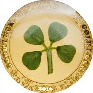 Palau / Four-Leaf Clover in Gold 2016 / 1 Dollar / Gold .9999 / 1 g / 13,92 mm /  Auflage: 2016.