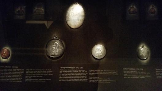 Smithsonian Indian Peace Medal exhibit. Image courtesy Joe Esposito.
