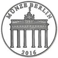 2016 / 333 Silber / 32,5 cm / Design: Bastian Prillwitz, Berlin (Vorderseite), Stefanie Lindner, Münze Berlin (Rückseite).