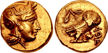Lot 2041: ATTICA, Athens. 295 BC. Stater. From the collection of Dr. Lawrence A. Adams. Near EF. Very rare. Estimate: $100,000.