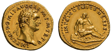 Domitian, Aureus. Rv. Germania.