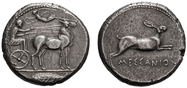 Messana, tetradrachm.