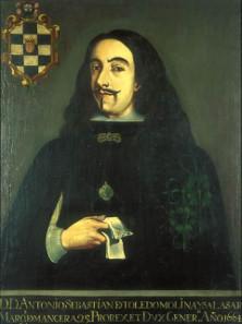 Antonio Sebastián Álvarez de Toledo, 25° Virrey de Nueva España, II Marqués de Mancera y Grande de España. Anonymous Picture of the 17th century. Wikipedia.