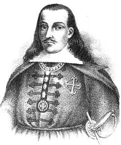 Viceroy Melchor de Navarra y Rocafull, Duke of Palata. From El Perú Ilustrado, ca. 1890.
