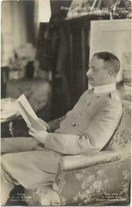 Prinz Johann Georg von Sachsen in seinem Arbeitszimmer, um 1900. Foto: James Aurig.