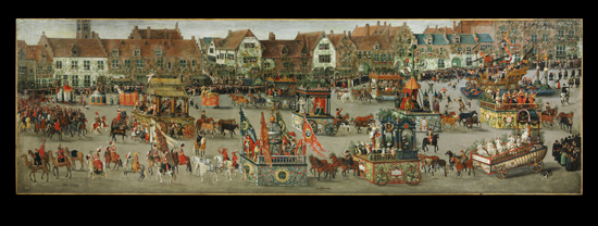 The Triumph of the Archduchess Isabella in the Brussels Ommeganck, Denys van Alsloot, 1616, Brussels. © Victoria and Albert Museum, London.