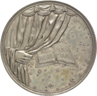 No. 1823: Germany / Saxony-Weimar. Carl August, 1775-1828. Silver medal 1817, by D. F. Loos, on the 300th Jubilee of the Reformation. Brozatus 1245. Extremely fine to brilliant uncirculated. Estimate: 100 euros.