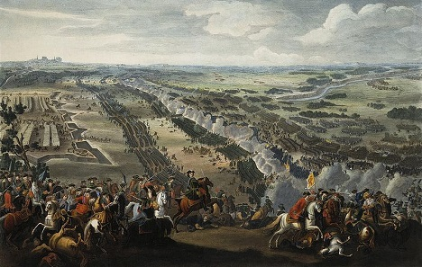 The Battle of Poltava, painting by Denis Martens the Younger, 1726.