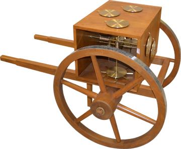 Wegstrecken konnten in der Antike präzise mit einem komplizierten Hodometer gemessen werden. Foto: © Kostas Kotsanas.