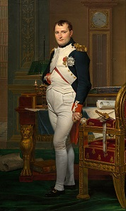 Napoleon Bonaparte. Gemälde von Jacques-Louis David, 1812.