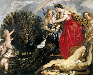 Juno und Argus, Gemälde von Peter Paul Rubens, um 1611. Wallraff-Richartz-Museum Köln.