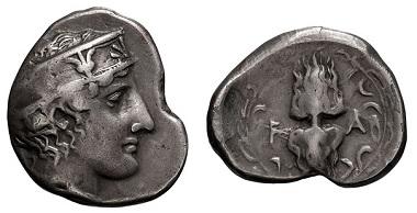 Lot 48: 95th Olympiad, 400 BC, Stater. Seltman-267. Toned Fine+. Minimum Bid: $950.