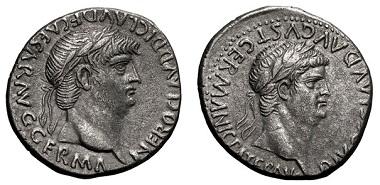 Lot 119: Caesarea, Cappadocia, 54-68 AD, Didrachm. RPC-3653 (8 spec., from 5 obv. dies), pl. 144 (same dies), BM-Antioch 174, Sydenham-68. Good VF. Minimum Bid: $1,350.