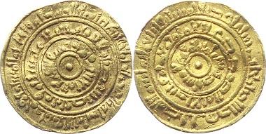 G15: Fatimiden. Kalifat. Al Mustansir billah, 428-487 H (1036-1094 AD). Halab (Aleppo). Dinar 451 H (1059/60 AD). Bds. Schrift. 3,93 g. Fb. 30; vgl. Mitch. 565; Wilkes 837. Selten, sehr schön. 1.000,- Euro.