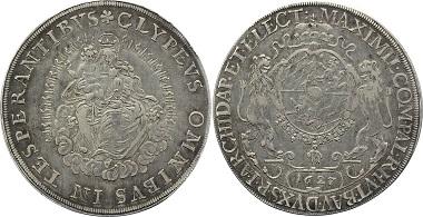 Nr. 47: Bayern. Kurfürstentum. Maximilian I., 1623-1651. Madonnentaler 1627. Dav. 6075; Hahn 111; Witt. 897. Sehr schön+. 595,- Euro.