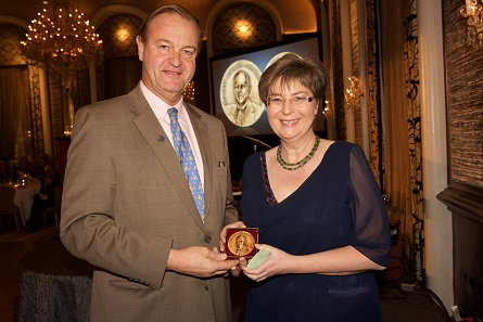 Mark Anderson delivers the award named after his father to Ursula Kampmann. Photo: Alan Roche.
