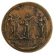 Medaille von Giovanni da Cavino auf Ludovic Demoulin de Rochefort (1515-1582) in Sesterzgröße, HMB Inv. 2002.233.
