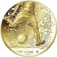 The 100 euro gold coin: France / 100 euro / 16 mm / 1.8g Fineness Au 999 / Mintage: 50,000.