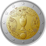 The new 2 euro commemorative coin's obverse. The reverse will bear the design common to all 2 euro coins.