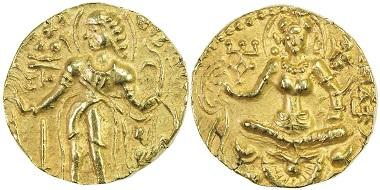Budhagupta, ca. 480-500. AV dinar.