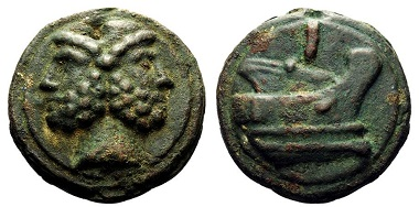 Lot 395: As circa 225-217. Haeberlin pl. 14, 3. Aes Grave 2. Sydenham 72. Thurlow-Vecchi 51a. Crawford 35/1. Historia Numorum Italy 337. Lovely brown-green patina, minor metal flaw on obverse, otherwise Good Very Fine. Starting Bid: £1,500.