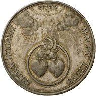 Rückseite einer Medaille auf die Liebe, von Anton Meybusch (1645-1702), Silber. © Landesmuseum Württemberg, Foto: Adolar Wiedemann.