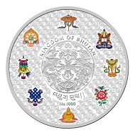 Kingdom of Bhutan / Nu. 1000 / Silver .999 / 5oz / 65.00mm / Mintage: 2,000.