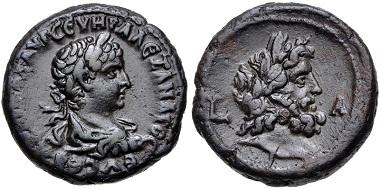 Lot 339: EGYPT, Alexandria. Severus Alexander. AD 222-235. Potin Tetradrachm. Dated RY 1 (AD 222). Dattari (Savio) 4386; K&G 62.23. Good VF. From the Hermanubis Collection. Estimate $150.