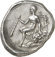 No. 93: THERMAE HIMERENSES (Sicily). Didrachm, 4th century B.C. Very rare. Extremely fine. Estimate: 45,000 euros.