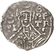 No. 3370: ITALY / VATICAN. John X with Berengar I. Denarius, no year, Rome. Extremely rare. Very fine. Estimate: 7,000 euros.
