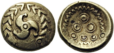 Lot 8: CENTRAL EUROPE, Vindelici. Early 1st Century BC. Stater. Allen & Nash 160. Good very fine. From a private European collection. Starting Price: 3000 CHF.