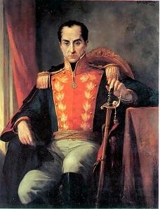 Porträt Simón Bolívars von Ricardo Acevedo Bernal. Quelle: Wikicommons.