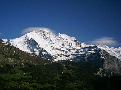 Jungfrau, as seen from Wengen.