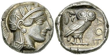 33: Athens, Attica. Tetradrachm, circa 430s BC. Agora 8a-8b. Good extremely fine. Estimate: 2500/2000 CHF.