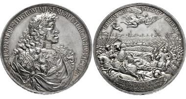 Los 3253: Habsburgische Kron- und Erblande. Leopold I. 1657-1705. Medaille 1683 auf den Entsatz von Wien. Taxe: 3750,- Euro.