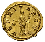 Lot 448: TRAJAN DECIUS, 249-251. Aureus, 250. RIC IV/3,123,28, C. 104. Very rare. Good portrait, minute scratches, otherwise Fdc. 7000 EUR.