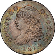 Lot 3017: 1814 Capped Bust Dime. John Reich-1. Rarity-3. Small Date. Mint State-66+ (PCGS). Price Realized: $94,000.