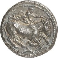 Lot 127: CATANE (Sicily). Tetradrachm, around 460. Ex Sternberg Auction 20 (1988), 254. Very rare. Extremely fine. Estimate: 50,000,- euros.