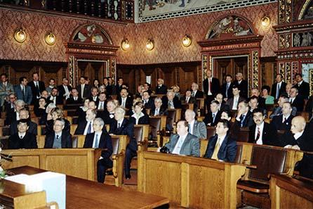 Die Eröffnungszeremonie im Basler Rathaus gehörte jedes Jahr zu den gesellschaftlichen Highlights.