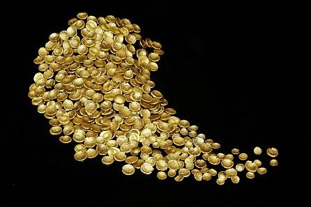 Der Goldschatz von Großbissendorf in der Oberpfalz, 2. Jh. v. Chr. © Archäologische Staatssammlung München, Foto Manfred Eberlein.