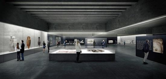Impression der geplanten Sonderausstellungshalle. © Nieto Sobejano Arquitectos.