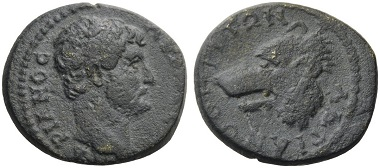 Lot 612: MYSIA, Hadrianotherai. Hadrian, 117-138. AMNG 565. SNG France 1091. Rare. Nearly very fine. Starting Price: 100 CHF; Hammer Price: 700 CHF.