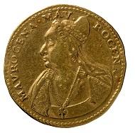 Osella auf die Dogaressa Morosina Morosini Grimani, Republik Venedig, 1597, Gold. MB inv. ven 1. © Comune di Padova/ Museo Bottacin.