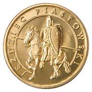 2006 2-zlote. Rv. Piast knight on horseback. Schön, p. 1678, 604.