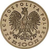 2002 100-zlotych. Rv. Ladislaus Jagiello). Schön, p. 1671, 444.