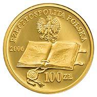 2006 100-zlotych on the 450th anniversary of reformation in Poland. Rv. Polish Protestant reformer Jan Laski. Schön, p. 1678, 603.