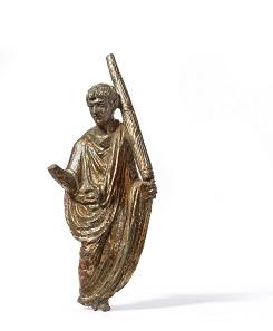 Liktor mit fasces (Rutenbündel mit Richtbeil), Bronze, Römisch, 1. Jh. n. Chr. © Museen für Kulturgeschichte Landeshauptstadt Hannover.