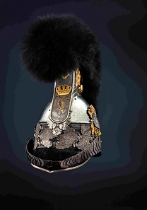 M 1832 helmet for officers Bavarian Cuirassiers with gilt lion and bearskin crest. Estimate: 12,500 euros. © Hermann Historica oHG 2016.